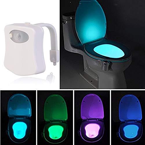 Wc-lamp Smart PIR bewegingsmelder toilet nachtlampje LED lichaam geactiveerd door beweging aan/uit zitsensor lamp 8/16 kleuren PIR WC lamp nachtlampje