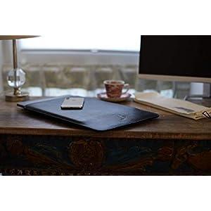 Atelier Jomaa Hülle aus hochwertigem Leder für Apple MacBook Pro 16 Zoll (Late 2019) schwarz hergestellt in Deutschland