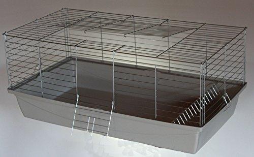 Heimtiercenter Nagerkäfig,Hasenkäfig,Meerschweinkäfig,Käfig,Rabbit,Zwergkaninchen ca. 100 x 54 x 43 cm weiß