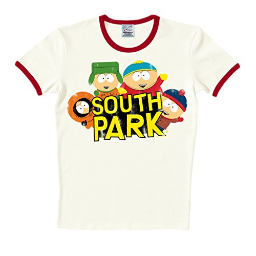 Logoshirt T-Shirt South Park - Rundhals Shirt - Rundhals Shirt altweiß - Originaldesign
