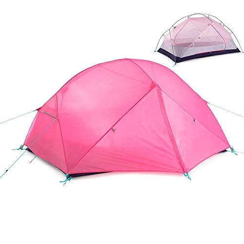 Luorizb 2-Persona Carpa Doble, Doble Capa Anti-tormenta de la Temporada Tres Poste de Aluminio Tienda al Aire Libre del Alpinismo Que acampa Que acampa (Color : C)