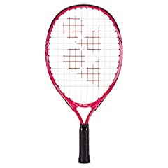 For children between ages of 2 and 3 of height ranging between 85cm to 100cm. Original YONEX US Version Color: Pink / Factory Pre-Strung Head Size:80 sq.in. / Weight: 175g (6.2oz) / Length: 19 in. Material: Aluminum / Featured Technologies:ISOMETRIC