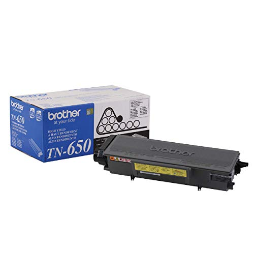 Brother Genuine High Yield Toner Cartridge, TN650, Replacement Black Toner, Page Yield Up To 8,000 Pages