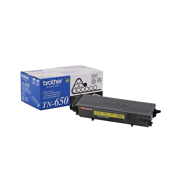 Brother Genuine High Yield Toner Cartridge, TN650, Replacement Black Toner, Page...
