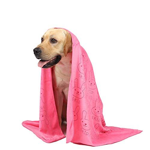looluuloo Hundehandtuch extra saugfähig, hunde zubehör,microfaser handtücher personalisierbares, hunde handtuch, kuscheldecke hund,saugfähiges Handtuch geeignet für kleine und mittelgroße Hunde,Rosa