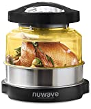Nuwave Four Pro Plus | Four à Convection par chaleur tournante et à Infrarouge; Friture à Air Chaud, Gâteaux, Grillades, Barbecue, Gril, Cuisson Vapeur, Rôtis et Déshydratation Noir One Size