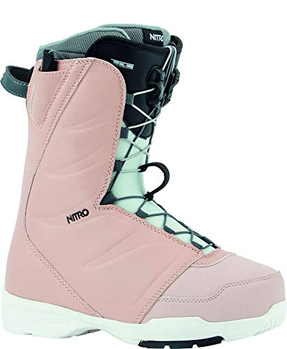 Nitro Snowboards Damen FLORA TLS'20 All Mountain Freestyle Schnellschnürsystem günstig Boot Snowboardboot, 25.0, ROSE