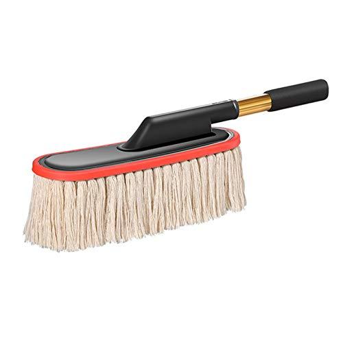 Plumero De Mano Alambre de algodón retráctil Cera MOP PUSPORTER TOADER Coche MOP Cepillo Pincel Eliminación de Polvo de Coche Lavado de Autos Cepillo Accesorios para automóviles Adecuado para Limpiar