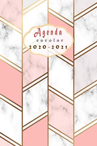 Agenda escolar 2020-2021: calendario 2020-2021 A5 semana vista,mármol rosa +calendario 2020-2021/ 16...