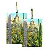 Hunihuni Bolsa de viaje para zapatos de pintura artística, cactus, impermeable, portátil, organizador de zapatos con cremallera, 2 unidades