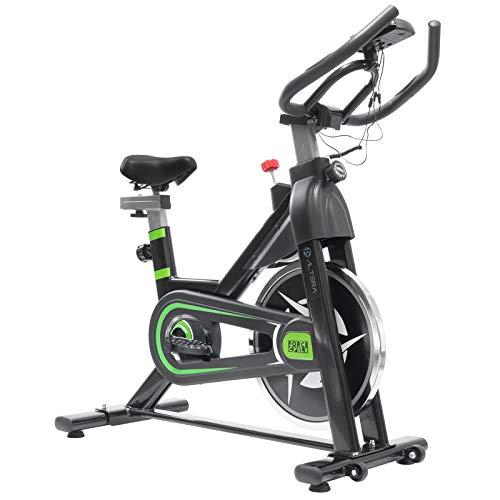 Altera Bicicleta Spinning Fitness Estatica Rueda de Inercia 6 kg (Negro)