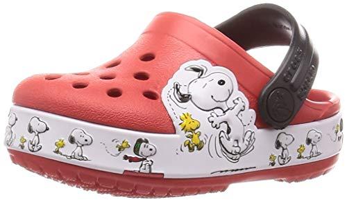 Crocs Unisex-Kinder FL Snoopy Woodstock Cg K Freizeit Flip Flops Sportwear, Multicolor (Flamme), 34 EU