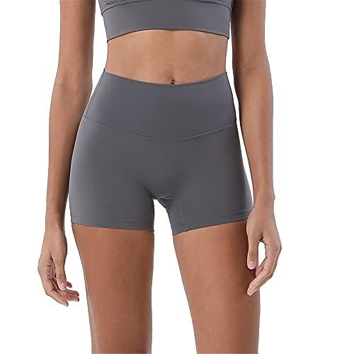 N\P Doble cara moler tres pantalones pantalones de yoga cintura femenina cadera cadera deportes, gris, XL
