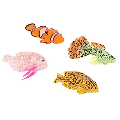 AMONIDA 【𝐎𝐬𝐭𝐞𝐫𝐧】 Aquarium Simulationsfisch, Silikon Aquarium Leuchtfisch, für Aquarium Haushalt Garten Büro Aquarium