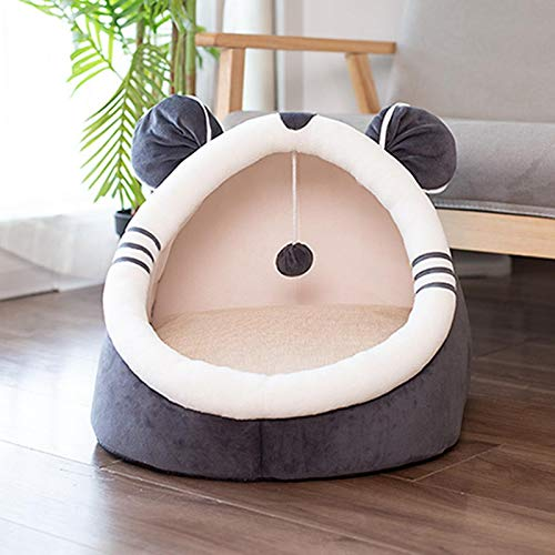 Dog Beds Warm Pet Bed Dog Beds House Winter Warm Cat Bed Xmas Foldable Pet House Tent with Removable Cushion Collapsible L48x48x40cm style1