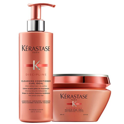 Kerastase Disziplin Curl ideal Cleansing Conditioner 400ml & Masque 200ml Duo
