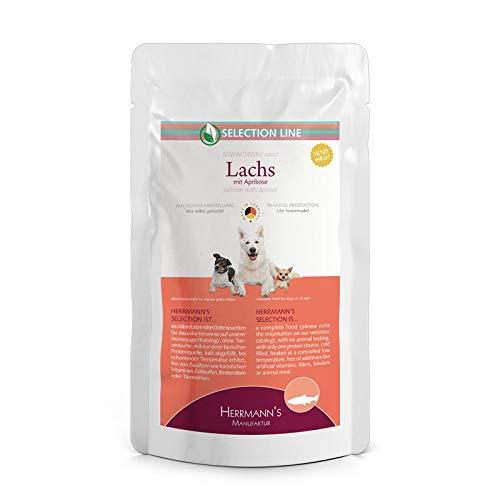 Herrmanns Hundefutter Lachs mit Aprikose, 15er Pack (15 x 150 g)