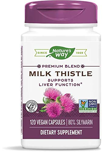 Nature's Way Standardized Milk Thistle; 80% Silymarin per serving; TRU-ID Certified; Non-GMO Project Verified; Vegetarian; 120 Vegetarian Capsules.