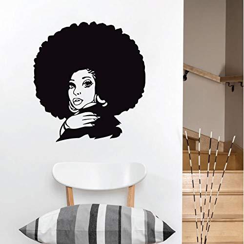 Afrikanische Frau Wandtattoo Stamm Afrikanerin selbstklebende Vinyl Aufkleber Aufkleber Schönheitssalon Schönheitssalon Wandaufkleber Dekoration A2 57x61cm