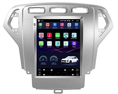 HYDDG Navegación GPS para Ford Mondeo 2007-2015, 9.7 pulgadas pantalla táctil Bluetooth WiFi coche Sat Nav estéreo Radios estéreo doble DIN coche radio estéreo
