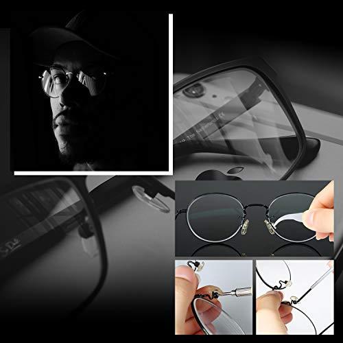 Eyeglass Repair Kit, Hiketolight Glasses Repair Kit with 1100pcs Eyeglass Screws Include Nose Pads, Precision Screwdriver Tool Set and Tweezers for Eyeglasses, Sunglasses, Watch Clock Spectacle Repair