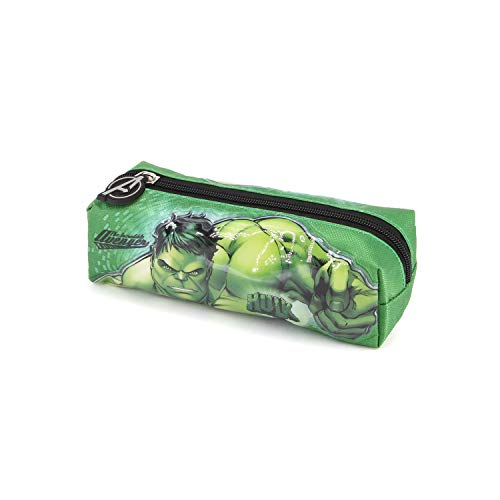 Karactermania Hulk Rage-Square Pencil Case Pencil Cases, 22 cm, Green
