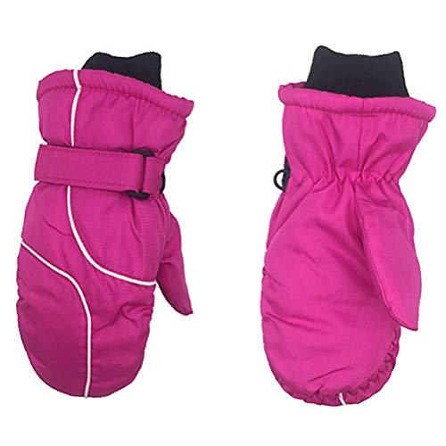 Kinder Ski Fausthandschuhe, Fäustlinge, Schnee-/ Winterhandschuhe, wasserbeständig und Winddicht, mit guter Bewegungsfreiheit, rutschfeste Handinnenflächen, für 4-9 Jahre