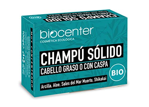 Champú Sólido - cabello graso o con caspa - Biocenter - envase libre de plástico