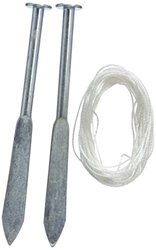 Silverline 456984 - Estacas robustas para cordel de albañil, 2 pzas (160 mm)