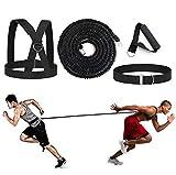 YNXing Juego de Cables de Resistencia elástica de 4 Piezas, Ideal para Taekwondo, fútbol, Baloncesto, esgrima, Movimiento Lateral, Entrenamiento de Velocidad y sobrevelocidad (16.4FT-Black)