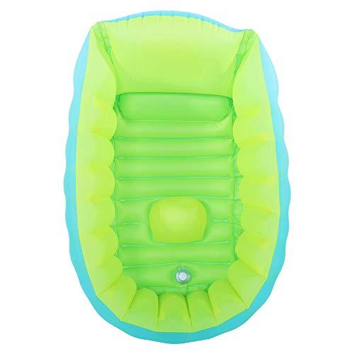 Baby Badewanne Aufblasbare Baby Badewanne Faltbare Duschwanne für Neugeborene Faltbare Travel Air Duschwanne Sitzbäder mit Handpumpe(L)