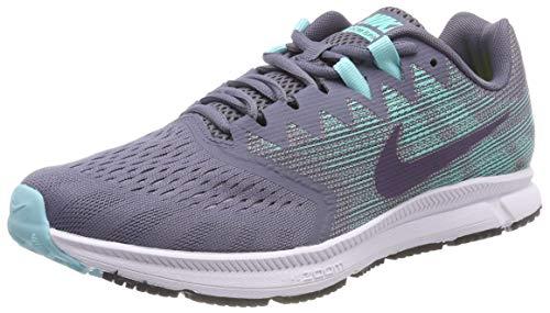 Nike Damen Zoom Span 2, Zapatillas de Entrenamiento Mujer, Gris (Light Carbon/Dark Raisin-Aurora), 39 EU