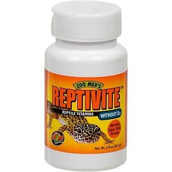 ZooMed Reptivite ohne Vitamin D3, 57g, Nahrungsergänzungsmittel Vitamine für Reptilien
