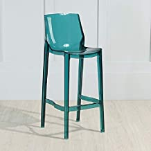 Furniture Accessories for Chairs Transparent Bar Chair Personality Fashion Home High Chair Acrylic Chair, Height:75cm(Tran...