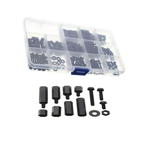 iplusmile 320 Stücke M3 Schrauben Muttern Kit Sechskant Käsekopf Schrauben Muttern für Krippe Etagenbett Kinderbett Möbelschraube