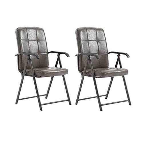 BYCSD klapstoel, draagbaar, frame van staal, kunstleer, hoge zitting, bureaustoelen, conferentie, 2 stuks