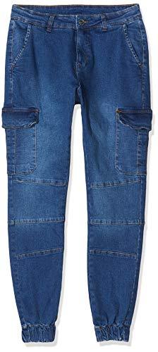 Urban Classics Herren Cargo Jogging Jeans Hose, Blau (Blue Washed 00799), W(Herstellergröße: XL)