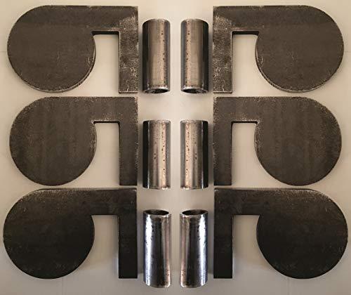 Magnum Target 4' x 3/8' AR500 Steel Shooting Range Targets Dueling Trees Metal Paddles w/Tubes