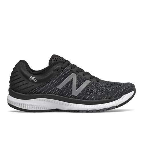 New Balance Women's 860v10 Running Shoes (9.5 M US, Black with Gunmetal & Lead)