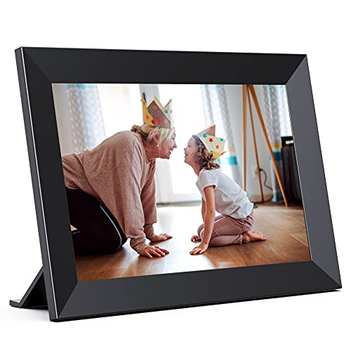 Jeemak Digital Picture Frame 8 inch WiFi Photo Frame HD IPS Touch Screen Portrait or Landscape Stand Auto-Rotate Share Photos and Videos via App at Anytime and Anywhere