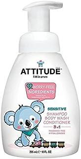 小さなもの3 1シャンプーシャワーコンディショナーポンプ無香料295ミリリットル (Attitude) (x 4) - Attitude Little Ones 3 in 1 Shampoo Shower Conditioner Pump Fragrance Free 295ml (Pack of 4) [並行輸入品]
