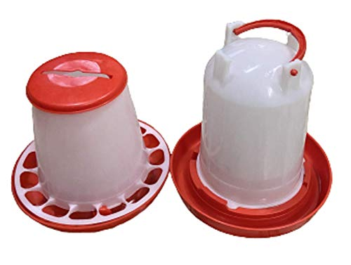 TM&W- Semi Automatic 3 KG Feeder and 3 Litre Drinker (Red)1+1= Two pcs