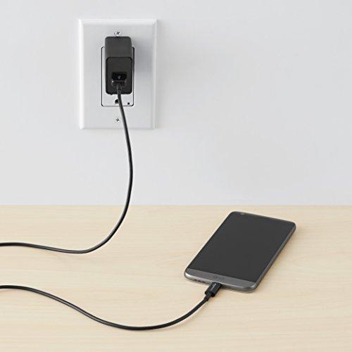 Amazon Basics USB Type C to USB A 2.0 Male Cable - 6 feet (1,8 Meter) - Schwarz