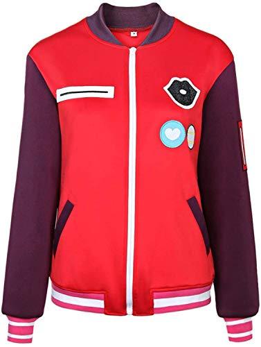 BFBMY Traje para mujer chaqueta Wonder Egg Priority Costume Kawai Rika Chaqueta uniforme de béisbol para mujer y niña, traje de cosplay unisex (color: rojo, tamaño: L)
