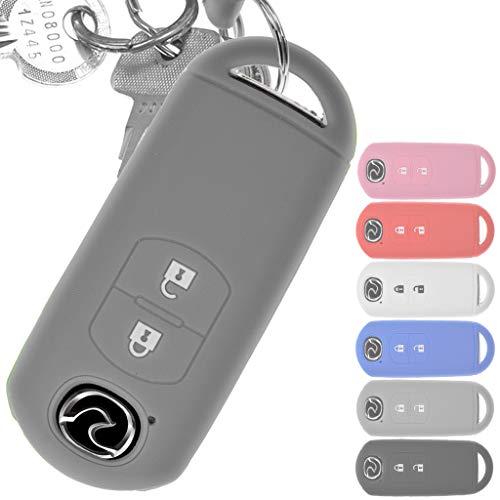 Soft Case Schutz Hülle Auto Schlüssel Key Cover Keyless Grau für Mazda 2 3 6 CX-3 CX-5 MX-5 2 Tasten