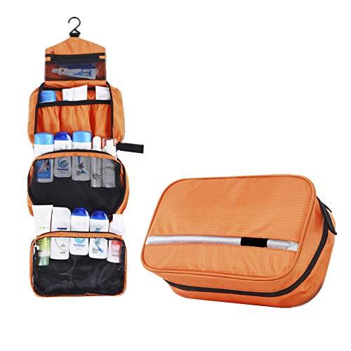 pzcvo Neceser Maquillaje Neceser NiñA Neceser de Viaje para Hombre Bolsas de Viaje para Mujer Artículos de tocador Bolsa Trousse De Toilette Homme Orange,One Size