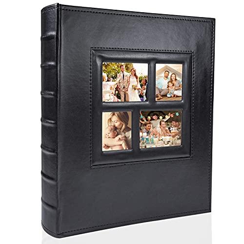 Photo Album 600 Pockets 6x4 Photos, PU Leather Cover/Sturdy Pockets/Extra...