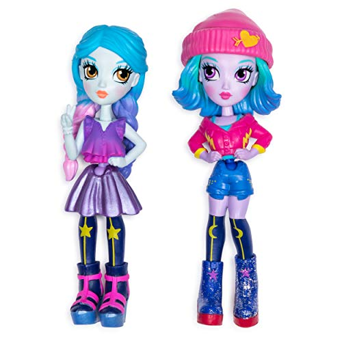 Off the Hook Style BFFs, Naia & Mila (Concert), 4' Small Dolls with Mix & Match Fashions & Accessories, for Girls Aged 5 & Up