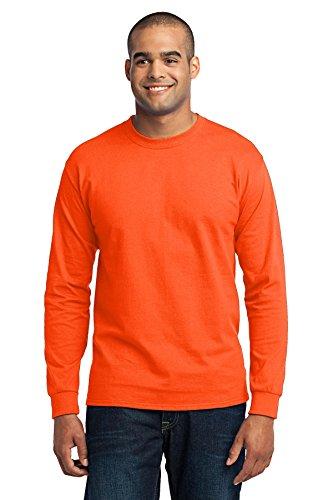 Port & Company® - Long Sleeve Core Blend Tee. PC55LS Safety Orange 6XL