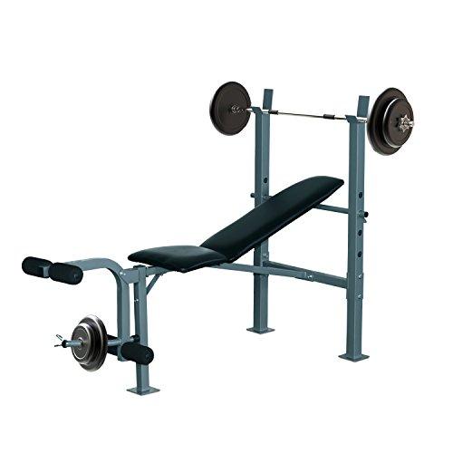 Banc de Musculation Fitness Entrainement Complet Dossier réglable Curler